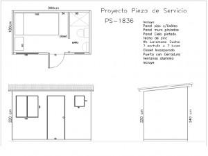 Muestra de proyecto para construcción de pieza de servicio